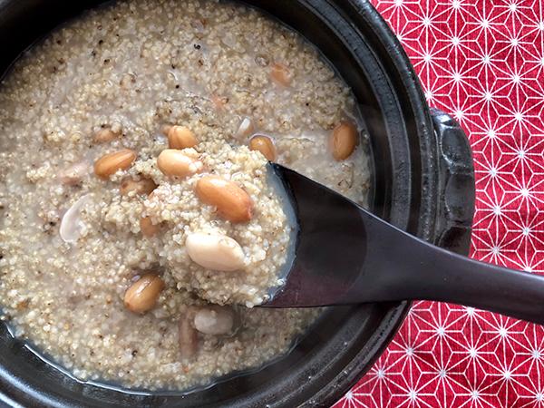 マインドフルネスに味わいたい 薬膳式!胃腸に優しいピーナッツ粥